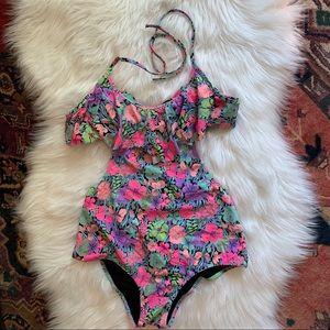 Victoria's Secret Neon Floral Swimsuit
